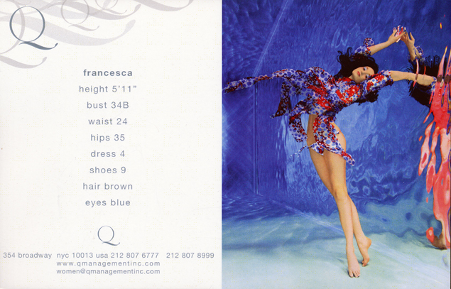 Francesca back
