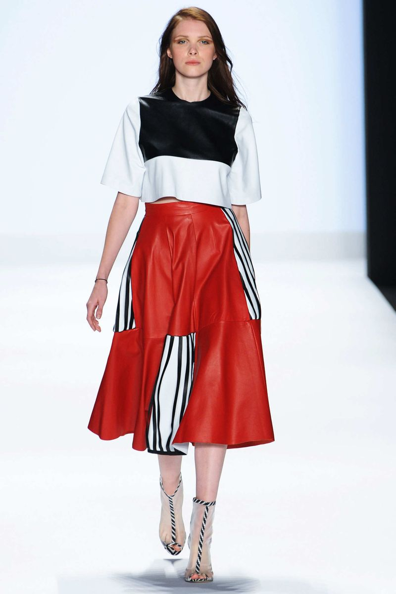 Alyona Shishmareva for Project Runway Ready To Wear Spring Summer 2015 at Mercedes-Benz Fashion Week New York.